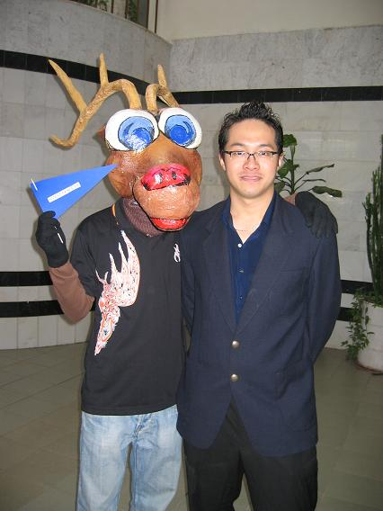 Me with Nizhniy Games mascot