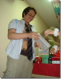 receiving gift in wacky christmas