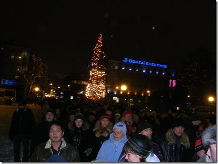 Crowd in Gorky sq