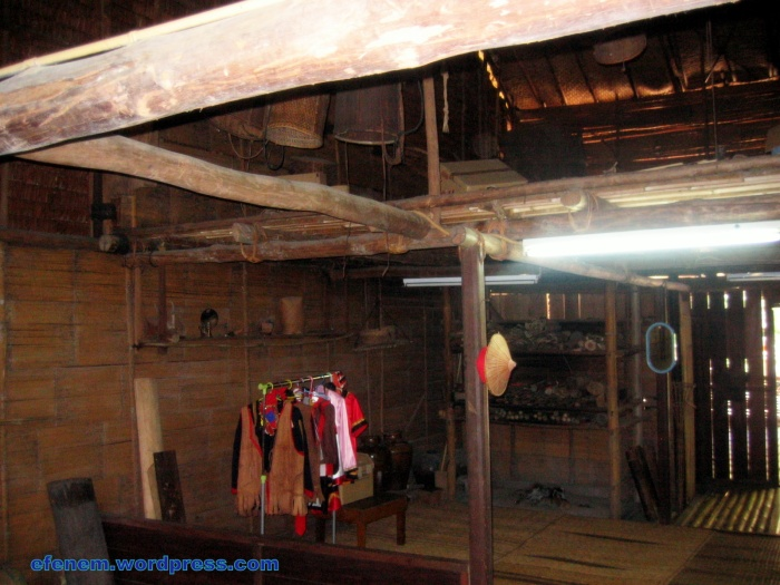 4- inside bidayuh house