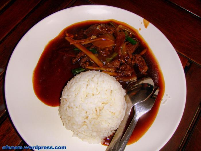ginger beef rice