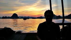 Nice Sunset view at Halong Bay